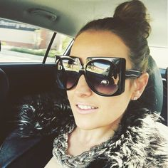 Tuesday doll up #carselfie #shameless #makeup #samaeyewear #obsessed  Model: Wildeside Color: Obsidian Size:62mm