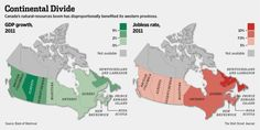 Canada's natural resources boom has disproportionally benefited its western provices