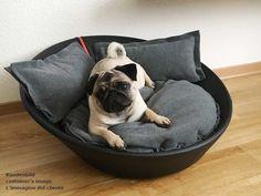 Kundenfeedback: Luna liebt ihr neues Hundebett! MILA Hundekörbchen aus Leder
