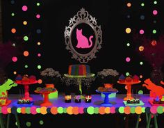 Neon Cat Tween Birthday Party via Kara's Party Ideas | The Place for All Things Party! KarasPartyIdeas.com (16)