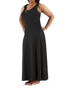 dots: Plus Solid Tank Maxi Dress ... $18.00