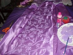 Rapunzel's inset on her dress detail.