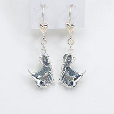 Handcrafted Sterling Silver Beagle Earrings by Donna Pizarro from the  Animal Whimsey Collection of Dog Jewelry