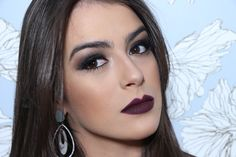 Maquiagem Batom Escuro por Mariana Saad