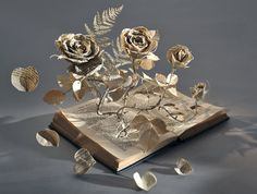 (8) Tumblr Paper book Sculptures by Sue Blackwell