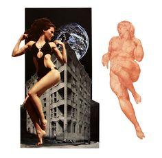 £€du∆rdo √. -técnica:collage 26 x 29 cm título: BELLEZA TEMPORAL-