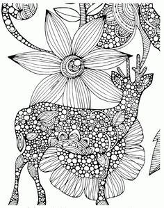 Deer Mandala Coloring Page