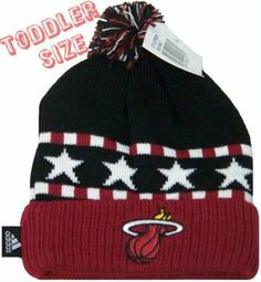 Miami Heat Toddler Size Knit Beanie Hat Cap Adidas Team Colors Authentic by adidas. $14.99. Miami Heat. New With Tags Attached. Toddler Knit beanie. Adidas and NBA Licensed Product. Cap off your Heat game day gear and take on the chilly weather with this Toddler knit beanie from adidas. This beanie features an embroidered team logo for edgy Miami Heat style!