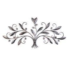 Silver Metal Olive Leaves Plaque at Kirkland's--Master Bedroom