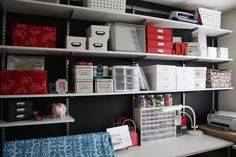 Love shelves full of organized goodness!
