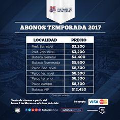 A partir de este lunes 6 de marzo, podrás adquirir tus abonos en oficinas del @PalacioSultan para esta temporada 2017. #TodosSomosSultanes