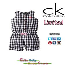 #CalvinKlein Baby-Girls Infant Romper. Link to #BUY: http://amzn.to/1sq5Fgg For more Cute Onesies Visit: www.cutebabyonesies.com #12months