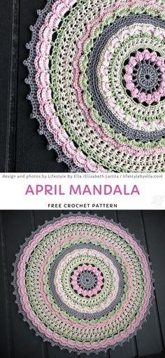 Colorful And Vibrant Crochet Mandalas Crochet Diy, Crochet Geek, Crochet Home, Easy Crochet Patterns, Crochet Crafts, Crochet Projects, Motif Mandala Crochet, Crochet Doilies, Crochet Stitches