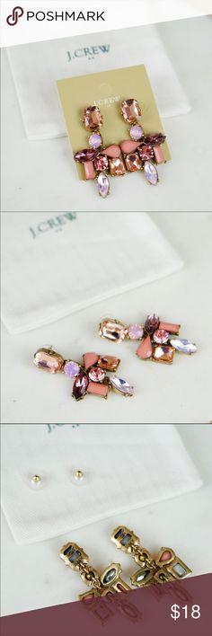 "J.Crew Art Deco Statement Chandelier Earrings Red Brand new.  Dust pouch included.  2-3/8""L x 1-1/8""W Price is firm. 10% bundle discount J. Crew Jewelry Earrings"
