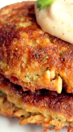 Creole Salmon Cakes with Hot Mustard