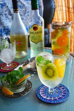 Cocktail 週末うちBar フルーツモヒートスパーク! お好きに割っちゃってー|レシピブログ