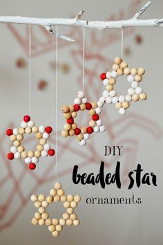 Want to make your own Christmas ornaments this year without too much of a fuss and lengthy instructions - these DIY beaded star ornaments are just the thing you are looking for!