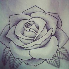 tatoo art rose Rose tattoo design by Alyx Wilson # Trendy Tattoos, New Tattoos, Cool Tattoos, Tatoos, Thigh Tattoos, Tattoo Forearm, Stencils Tatuagem, Tattoo Stencils, Kunst Tattoos