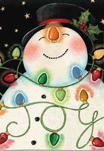 Snowman & Lights Flag | Doors, Snow and Door ideas
