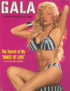 Burlesque dancer Lilly Christine on the cover of Gala magazine, 1950s.
