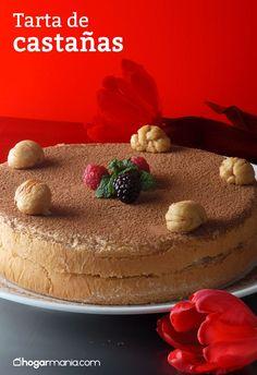 Tarta de castañas Tostadas, Relleno, Tiramisu, Cake, Ethnic Recipes, Desserts, Food, Custard, Tortilla Pie