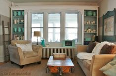Vintage Style Living Room in a Charming Bungalow