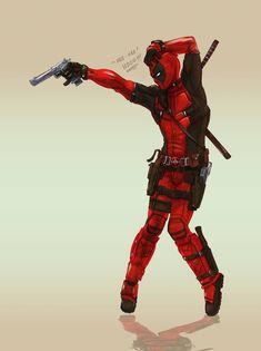 Deadpool by ZachSatherArt Deadpool Love, Deadpool Art, Deadpool Funny, Dead Deadpool, Deadpool Unicorn, Deadpool Quotes, Deadpool Tattoo, Deadpool Stuff, Deadpool Costume