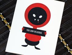 Vampire Valentine Card by HeartsGrowFonder on Etsy, $2.75 perfect for the bf