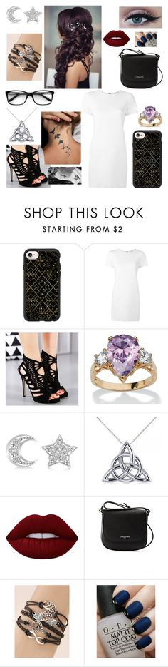 """""""'Heart Attack'"""" by caketime ❤ liked on Polyvore featuring Casetify, Helmut Lang, Palm Beach Jewelry, Allurez, Lime Crime, Lancaster and OPI"""