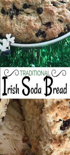 Traditional Irish Soda Bread Recipe With Raisins! Enjoy Grandma's old school Irish Soda Bread for St. Patrick's Day and all year round. patricks day party breakfast Grandma's Irish Soda Bread Recipe With Raisins! - The Savvy Age Irish Desserts, New Year's Desserts, Christmas Desserts, Raisin Recipes, Bread Recipes, Cooking Recipes, Muffin Recipes, Irish Soda Bread With Raisins Recipe, Moist Irish Soda Bread Recipe