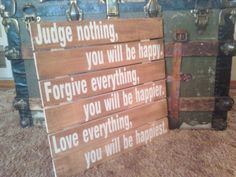 Pallet sign Judge nothing you will be happy by TheSignCircus, $25.00