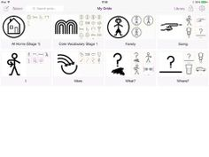 My Choice Pad Lite which contains the signs and symbols from the Stage One Makaton Core Vocabulary. https://itunes.apple.com/gb/app/mychoicepad-lite/id458329041