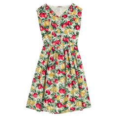 Apples And Pears Cotton Pleat Front Dress | New In Fashion | CathKidston