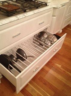 Kitchen Storage Solutions, Kitchen Cabinet Organization, Kitchen Cabinet Design, Home Organization, Organizing Ideas, Kitchen Storage & Organization, Kitchen Organizers, Cabinet Organizers, Custom Kitchen Cabinets