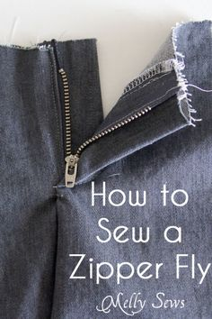 Sewing a Zipper Fly Tutorial - Melly Sews