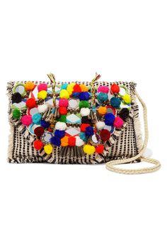 Antik Batik Udipi Embellished Woven Cotton Shoulder Bag