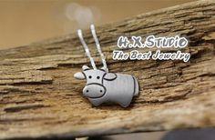 Handmade Silver Ox Pendant, Silver 990 Lovely Ox Pendant, Anniversary, Birthday, Christmas, Gift