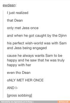 "Me: ""Dean and Jess. Djinn""--oh you're talking about Supernatural! Nos4a2, Sam Dean, Fandoms, Supernatural Funny, Super Natural, Sam Winchester, Comic, Castiel, Superwholock"