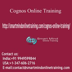 "Cognos Online Training Cognos may be able to be explained as a specialized software suit of the company intelligence, Cognos Online Training. <a href=""http://smartmindonlinetraining.com/cognos-online-training/""> Cognos Online Training </a>"