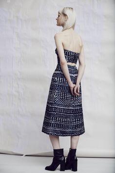 Look 15 Kourou print bandeau dress Yuzu high ankle boot
