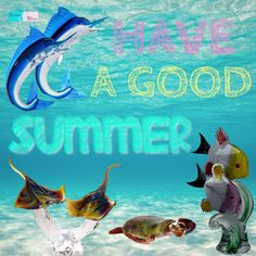Have a good summer! The animals in the image are all made of murano glass from Venice (Venetian glass)!