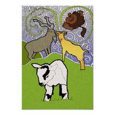 Three Billy Goats Gruff Poster by Jodi Cox