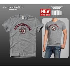 USD$20  Abercrombie & Fitch A&F AF Mens Short Sleeve Tshirts, Fashion Tees On Replica Shop