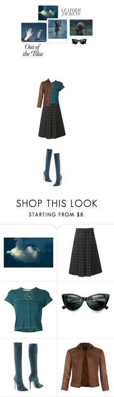 """""""out of the blue"""" by paperdollsq ❤ liked on Polyvore featuring Mulberry, Eckhaus Latta, Polaroid, Casadei, AllSaints and leatherjackets"""