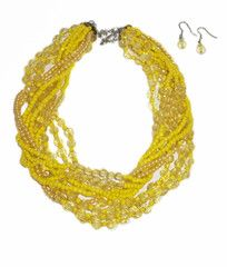 Lemon Yellow Bead Necklace
