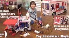 Little Girl's Toys: Kid's Animal Pet Toys. Doctor Pretend Playtime. Toy Dolls and Veterinary Clinic - YouTube