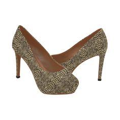 Faux Snake Skin Women's High Heels (Model 044) High Heel Models, Snake Skin Pattern, Womens High Heels, Peep Toe, Shoes Heels, Fashion, Moda, Fashion Styles