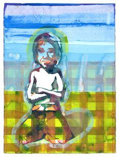 Maurice Christo van Meijel: zonder titel (2005) inkt op papier, 77 x 57 cm.