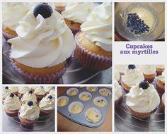 Cupcakes aux myrtilles et chantilly au mascarpone
