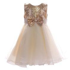 Nouvelle filles Fille Domino panneau à Rayures Paillettes taille robe mode partie 2-10 ans